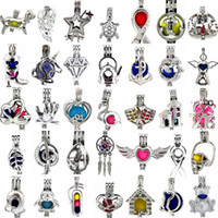 Wholesale gray gems - 500 Designs for your choose - Locket Cages Love Wish Pearl  Gem beads oyster Pearl Mountings - Pearl Cage - WITHOUT Akoya Oyster