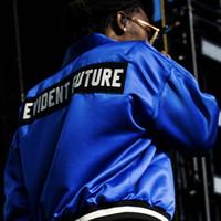 saten ceket erkek toptan satış-Tanrı'nın FIFTH MANUEL FOG Siyah Mavi Saten Ceket korkusu Erkekler Kadınlar Moda Mont Beyzbol Ceket Hip Hop Giyim HighStreet HFLSJK037
