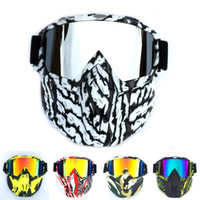 Wholesale hot ski mask for sale - Group buy Men Women Ski Snowboard Snowmobile Goggles Mask Snow Winter Skiing Ski Glasses Motocross Sunglasses personality Dazzling color Hot products