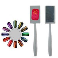pregos magnéticos mágicos venda por atacado-Ímã mágico Vara Para Cat Eye 3D Efeito Magnético Nail Art Tips Gel UV Polonês Ferramenta Manicure