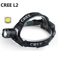 Wholesale Focus Light Bulbs - 3 Mode XML L2 2400Lm Waterproof Zoom LED Headlight Headlamp Head Lamp Light Zoomable Adjust Focus For Bicycle Camping Hiking