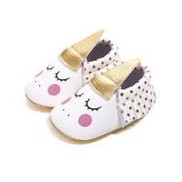 ingrosso pattini del puntino di polka delle neonate-2018 Newborn Baby Girl Baby Mocassini Moda Polka Dot Nappa In Pelle Ragazze Primi Camminatori Scarpe Bambino Shoes.CX108