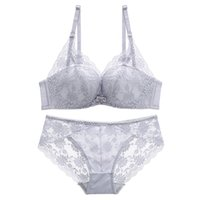 baf9b2b40f Floral lace comfortable seamless female underwear sets fashion wireless  one-piece sexy girl bra set intimates transparent panty