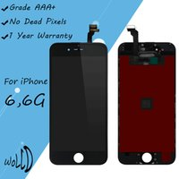 Wholesale Iphone Oem Assembly - OEM LCD Display Touch Screen Digitizer Assembly Replacement for iPhone 6 6G with Frame Repair Parts Blakck White