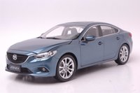 Wholesale diecast 18 - 1:18 Diecast Model for Mazda 6 Atenza Blue Sedan Alloy Toy Car Miniature Collection Gift MX5 MX