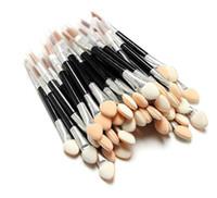 Wholesale Sponge Eyeshadow Applicators Makeup - Cosmetic Brushes Women Makeup Eyeshadow Eyeliner Sponge Lip Brush Set Applicator Beauty Double-Ended Disposable