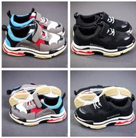 Wholesale gril baby - Luxury Designer Brand Kids Shoes Baby Toddler Running Shoes Children Boy And Gril Sport Sneaker Athletics Basketball Shoes