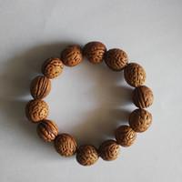 ingrosso legno buddista-Commercio all'ingrosso naturale di legno di montagna selvaggia perline buddista Mala buddha legno bracciali fatti a mano fai da te amicizia bracciali uomo fortunato