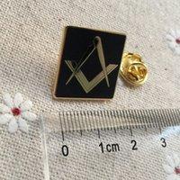 alfiler de albañil al por mayor-10 unids masones personalizados masones gratis pin de solapa insignia de metal artesanía recuerdo lodge masonería broches cuadrados y alfileres