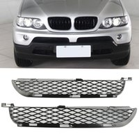 Wholesale grille lighting for sale - A Pair of Car Front Left Right Fog Light Bumper Lower Air Outlet Grilles Fits for BMW X5 E53 Car Styling