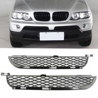 bmw ön farlar toptan satış-Bir Çift Araba Ön Sol Sağ Sis Işık Tampon Düşük Hava Çıkış Izgaraları BMW X5 E53 2003-2006 için Uygun Araba Styling