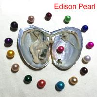 ingrosso spettacolo di compleanno-Trasporto libero Nuovo DIY AAA + 9-11mm Edison Perla Oyster acqua fresca Akoya all'ingrosso in shell vuoto-imballato 2018 regalo di compleanno spettacolo di perle