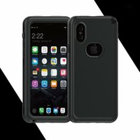 Wholesale Pet Spot - waterproof for iPhone x 8 8plus 7 7plus phone case pc+tpu+Silicone+pet 2in1 case have spot with package