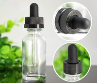 Wholesale cosmetics usa for sale - Group buy USA Market Essential oil cosmetic liquid glass bottles ml Emtpy Clear Glass Containers With Childproof Cap And Rubber Stopper With Pipette