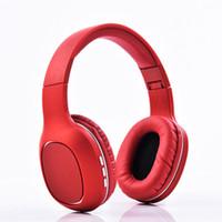 auscultadores auriculares china venda por atacado-New Hot China Freeshipping fone de Ouvido Bluetooth Estéreo Baixo Dobrável Sem Fio Fones De Ouvido Fone de Ouvido Suporte Cartão SD com Microfone