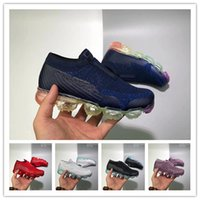 Wholesale infant rainbow online - Laceless vaporma Platinum Kids running shoes Grey white Rainbow Infant Children Sports shoes toddler trainer boy girl sneaker