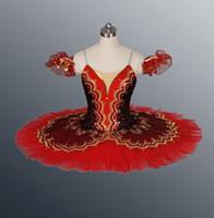 envío rápido tutu al por mayor-¡Envío rápido! Faldas de tutú para ballet para adultos, vestidos profesionales para mujeres, tutú para ballet clásico para niñas; falda de tutú rojo; ropa de baile para mujeres