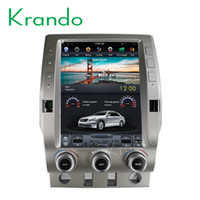 "toyota radio android Australia - Krando Android 7.1 12.1"" tesla Vertical screen car dvd radio player for Toyota for T undra 2014 2015 2016 2017 2018 GPS multimedia system"