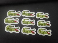 Wholesale 10pcs Crocodile Pattern embroidered patches for sewing Bag clothing patches iron on sewing accessories applique