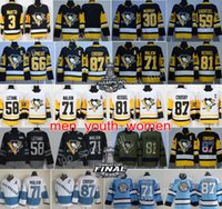 Wholesale waterproof dry - Pittsburgh Penguins Jerseys Stanley Cup 87 Sidney Crosby 58 Kris Letang 71 Evgeni Malkin 81 Phil Kessel Mario Lemieux Matt Murray Ice Hockey
