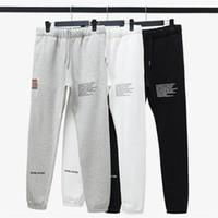 eea068624d63bd Wholesale fleece track pants for sale - Winter Men Embroidered Flag Fleece  Sweatpants Letter Print Drawstring