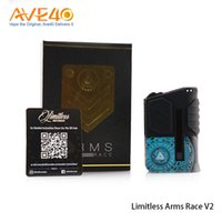Wholesale wholesale metal works - Limitless Arms Race Box Mod Arms Race 200w Mod Work with Dual 18650 updated Limitless 200w