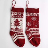 Wholesale family christmas stockings resale online - Brand New Patterns Christmas Stocking Embroidered Personalized Stocking Gift Bag Xmas Tree Candy Ornament Family Christmas Stocking