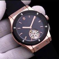 ingrosso cronometro automatico-Vendita calda marca HBOT tourbillon orologi da uomo meccanico automatico orologio classico signore moda Relogio marchio orologi per uomo Cronometro