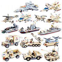 Wholesale tank models toys - Building Blocks Model Counter-terrorism military model Minifigs Assemble the diy fighter tank battleship Early Childhood Education toys