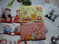 chinese envelopes Canada - Wholesale 2016 New Hot Sale Lucky Cat Red Packets Chinese New Year Red Envelopes Money packet