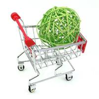 металлический супермаркет оптовых-Металл мини притворяться, играть супермаркет Тележка торговый утилита корзина режим хранения автомобиля brinquedos miniaturas де Menina платья