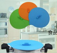 Wholesale cook pot handles online - Steaming Lid Silicone Lid Pot Cover Cooking Tools Boil Over Spill Stopper Cover Kitchen Couvercle Silicone Cuisine
