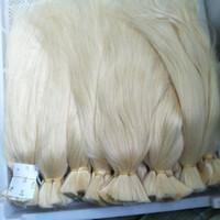 Wholesale human braiding hair weft free resale online - DHL Fedex Free CE certificated Straight Wave Virgin Human Hair Bulk for Braiding Blonde Color Gr