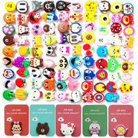 Wholesale cartoon phones online - 3D Cartoon Mobile phone Holder Stand Bracket Degree Rotation Expanding Grip Clip Air Bag for iphone x samsung android phone