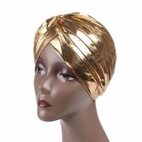 indischer kopf schal großhandel-Gold Silber Indian Hut Erwachsene Frauen Lady Head Scarf Party Hüte Headwear Dress Up Requisiten Maskerade Party Supplies