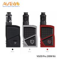 subohm box mods toptan satış-100% Orijinal Pro 200 w ile VGOD Pro 200 Kiti Kutusu Mod 4 ml VGOD Subohm Tankı Elektronik Sigaralar
