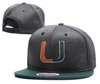 Wholesale Wholesale Hurricane - New Caps Miami Hurricanes 2018 College Football Snapback Hats Cap Gray Color Team Hats Mix Match Order All Caps in stock Wholesale