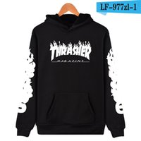 Wholesale Sweater Zip - 2018 men fall new Zip Hoodie sweater cashmere with men ten hip hop skateboard wear hoodies free shipping