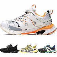 Wholesale tracking shoe resale online - New Fashion Triple S Track Trainers Men Sports Running Shoes Designer Clunky Sneaker Black Orange Women Walking Luxury Paris Dirty Dad Shoes