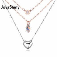 Wholesale swarovski crystal necklace rose gold for sale - Group buy Crystals From Swarovski Necklaces amp Pendants For Women Multi Layer Chains Rose Gold Color Collier Christmas Gift