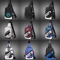 öğrenci çapraz çantaları toptan satış-Patlama Modelleri Erkek Moda Bel Çantaları Çapraz Çanta Çapraz Vücut Rahat Spor Oxford Göğüs Çantası Fanny Paketleri Koreli Öğrenciler Messenger çanta