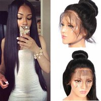 Wholesale cheap human hair wigs online - 150 Density Brazilian Straight Lace Front Human Hair Wigs For Black Women Cheap Brazilian Pre Plucked Lace Front Wigs With Baby Hair