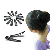 pinza de pelo de metal negro al por mayor-25 Unids / lote horquillas negras peluquería pinzas para el cabello Metal Clip de corte de pelo Snap pernos de pelo Headwear accesorios para mujeres niñas