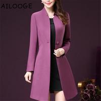 ingrosso moda femminile elegante coreana delle donne-Stile coreano Bodycon Plus Size Inverno Donna Wind Coats Elegante Fashion Office OL Abbigliamento donna 4xl