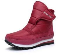 d839c9e46a6 Size35-45 hommes Femmes Bottes Plate-forme Imperméable Fourrure Femelle Chaud  Sneakers De Bottes De Neige Botte Femme Hiver Femmes Chaussures De Coton