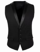 hırka mens korece toptan satış-Erkekler için yeni yelek sonbahar Kore iş rahat slim fit erkek yelek kolsuz takım elbise yelek hırka ceketler coat erkek giyim