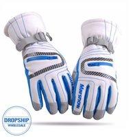 хоккейные перчатки оптовых-Высокое качество лыжные перчатки водонепроницаемый теплый унисекс хоккейные перчатки зимние открытый спорт горные лыжи сноуборд перчатки для женщин Kid S1025