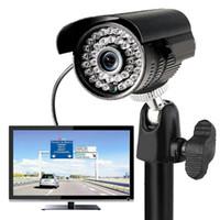 tavan kameraları toptan satış-Evrensel Siyah 4 Adet / paket Gözetleme Kamerası için Duvar Montaj Braketi Tavan Standı