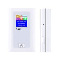 wifi taşınabilir güç bankası toptan satış-Taşınabilir Unlocked Cep 4G Modem LTE Mini WiFi Yönlendirici Cep Kablosuz Hotspot ile SIM Kart Yuvası Desteği 5200 mAh Güç Bankası