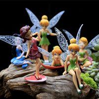 12 fadas venda por atacado-Hermoso Kawaii 12 peças Modelos de Fadas Jardim Miniaturas Princesa Artesanato Miniatura de Fadas Estatuetas Decoração Do Jardim R001